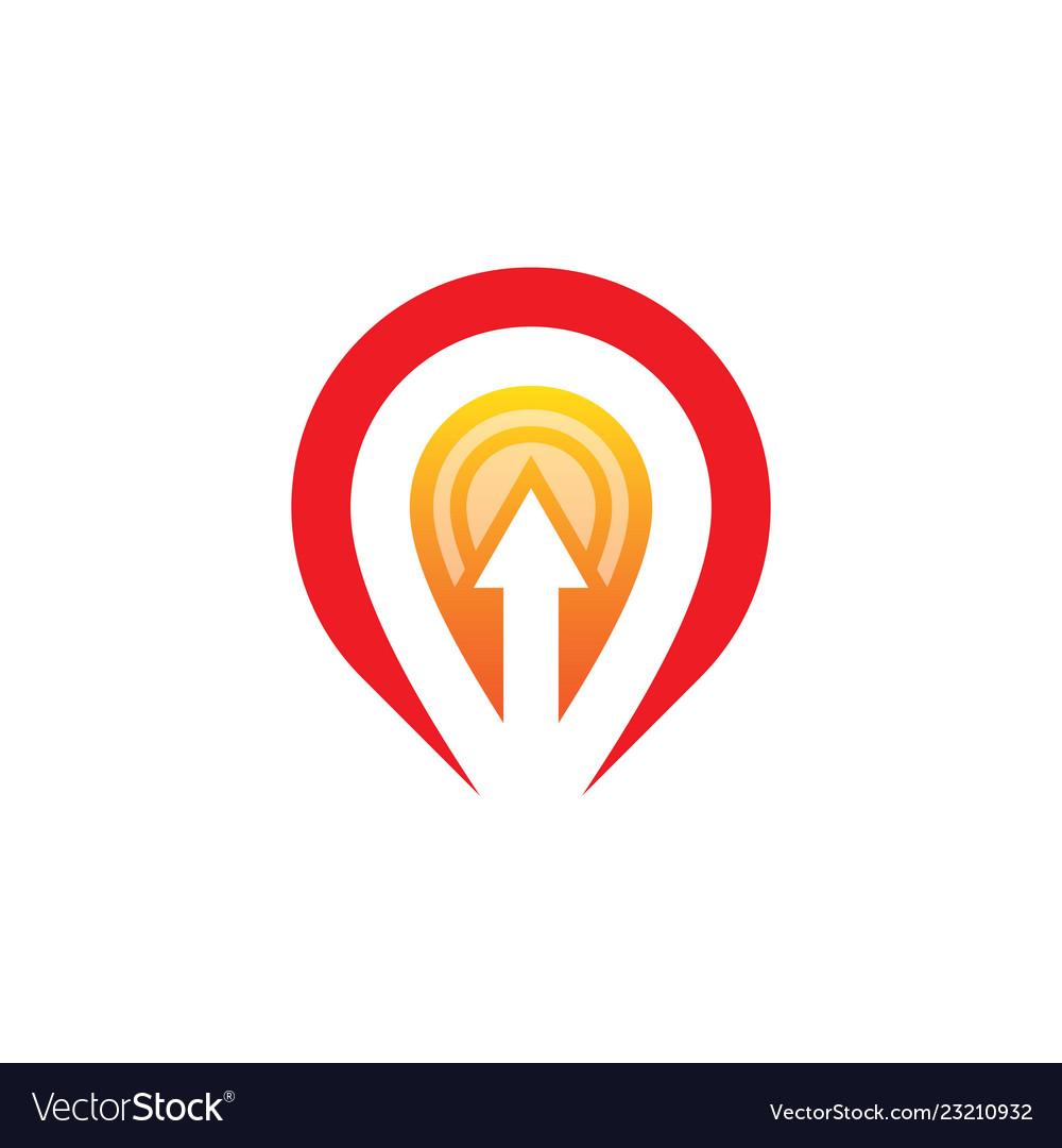 Location arrow business logo