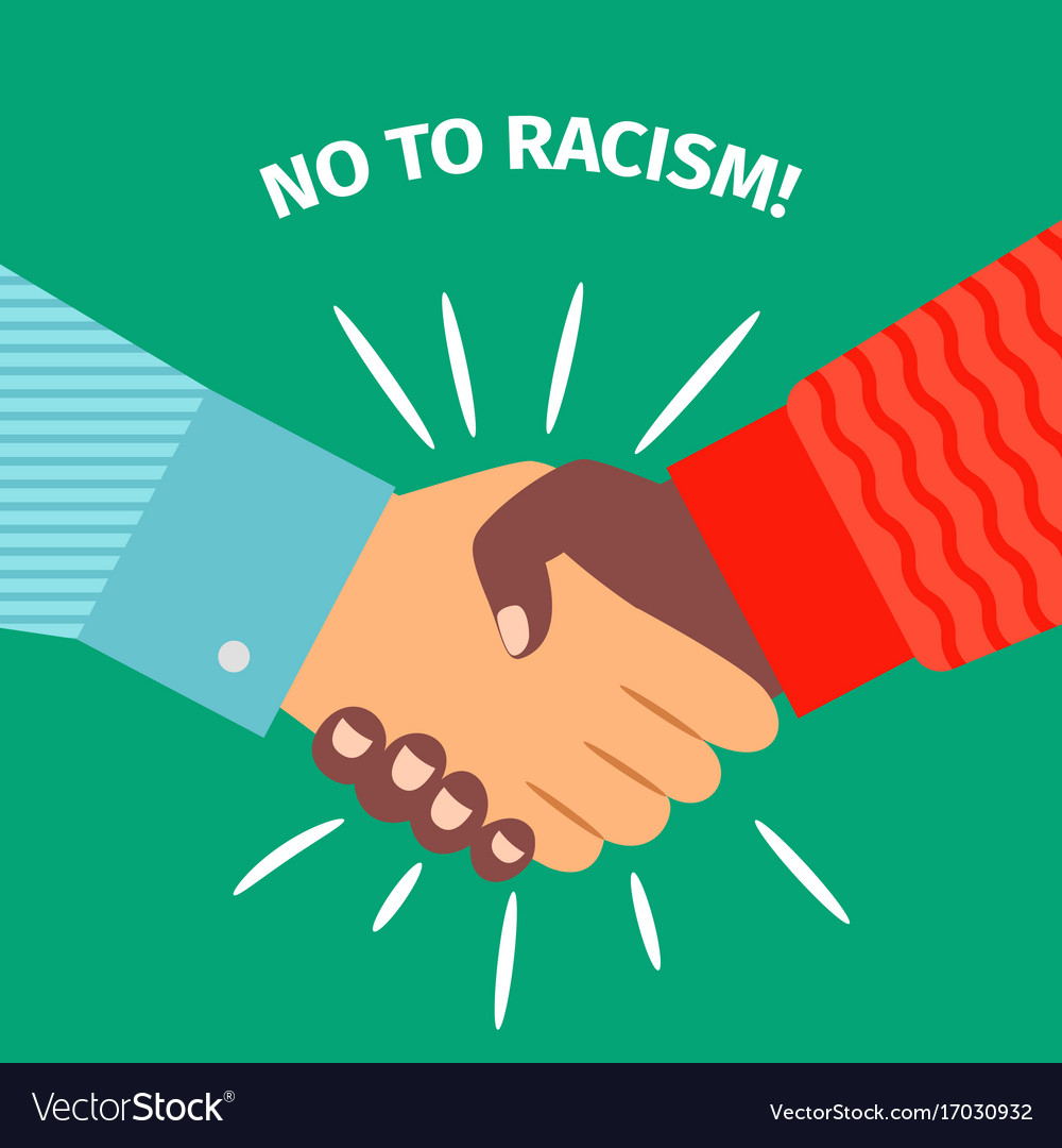 No to racism handshake businessman agreement