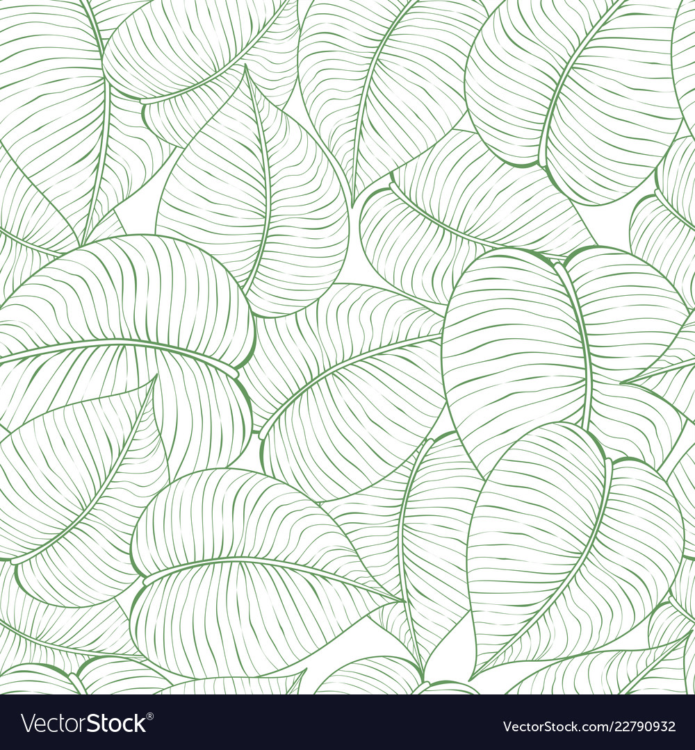 Seamless green leaf pattern