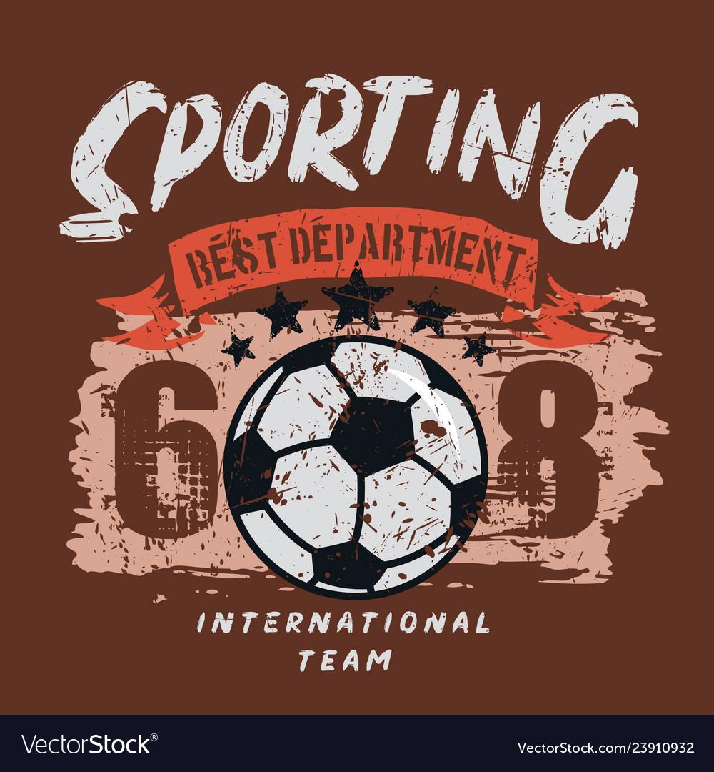 Sporting soccer department