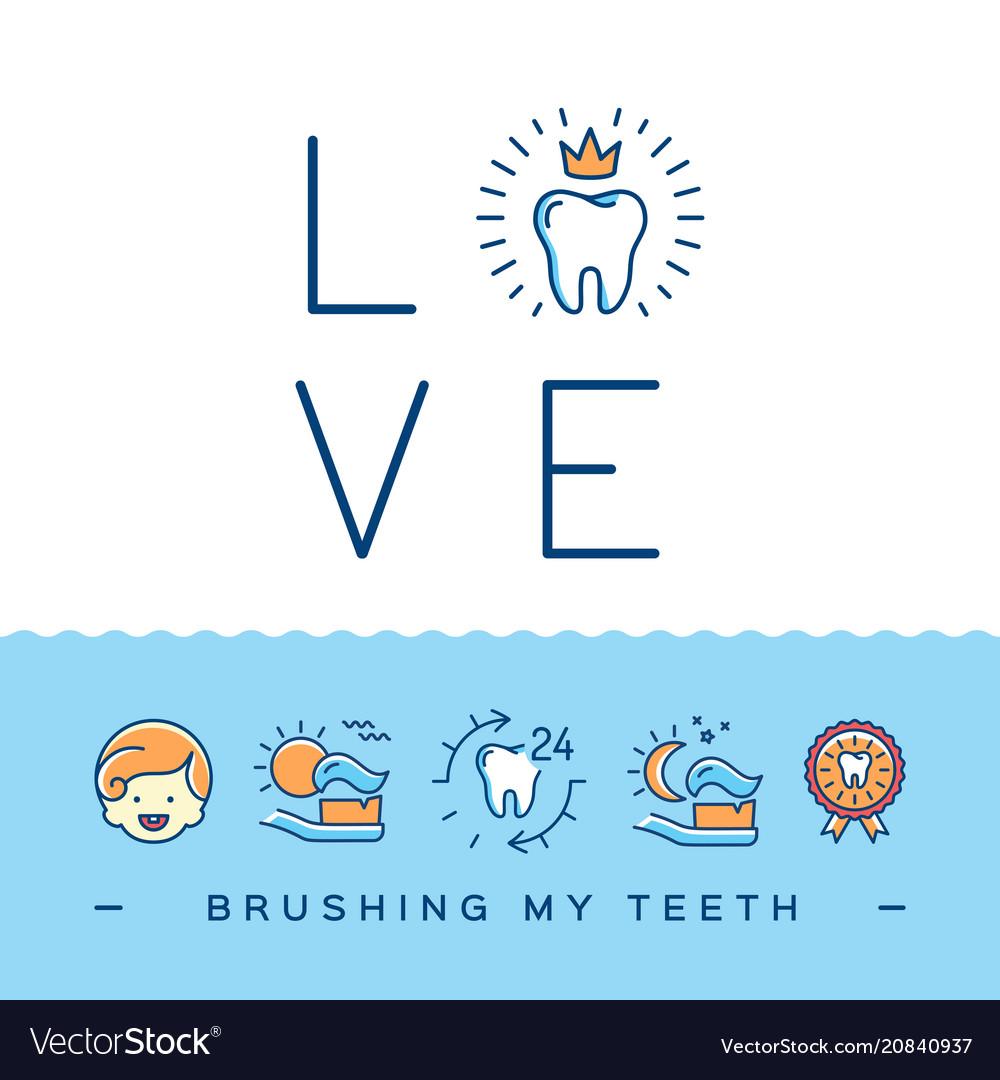 Brushing my teeth card childrens dentistry cute