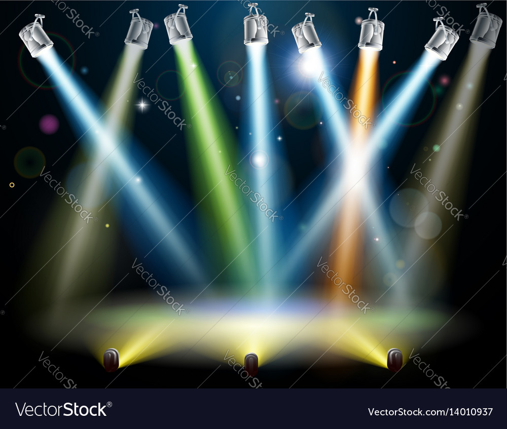 Stage Lights Royalty Free Vector Image