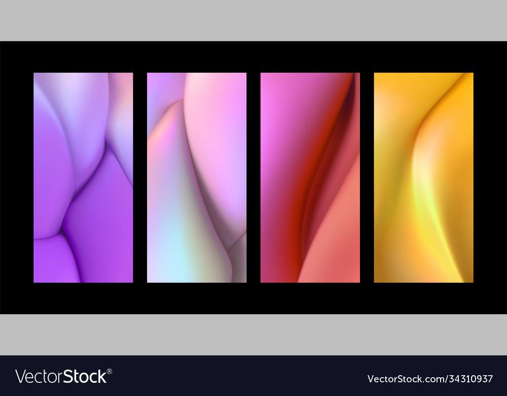 Liquid gradient shapes background set