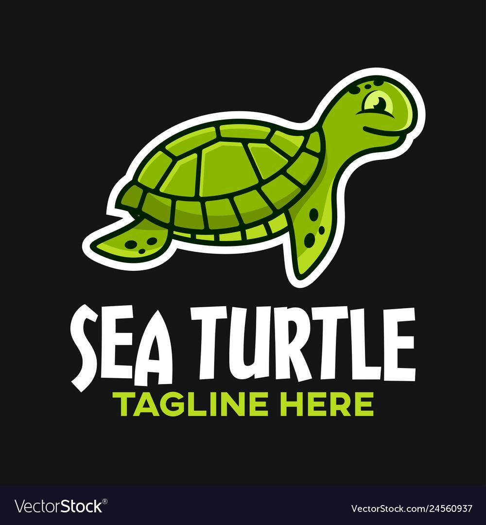 Mascot sea turtle logo