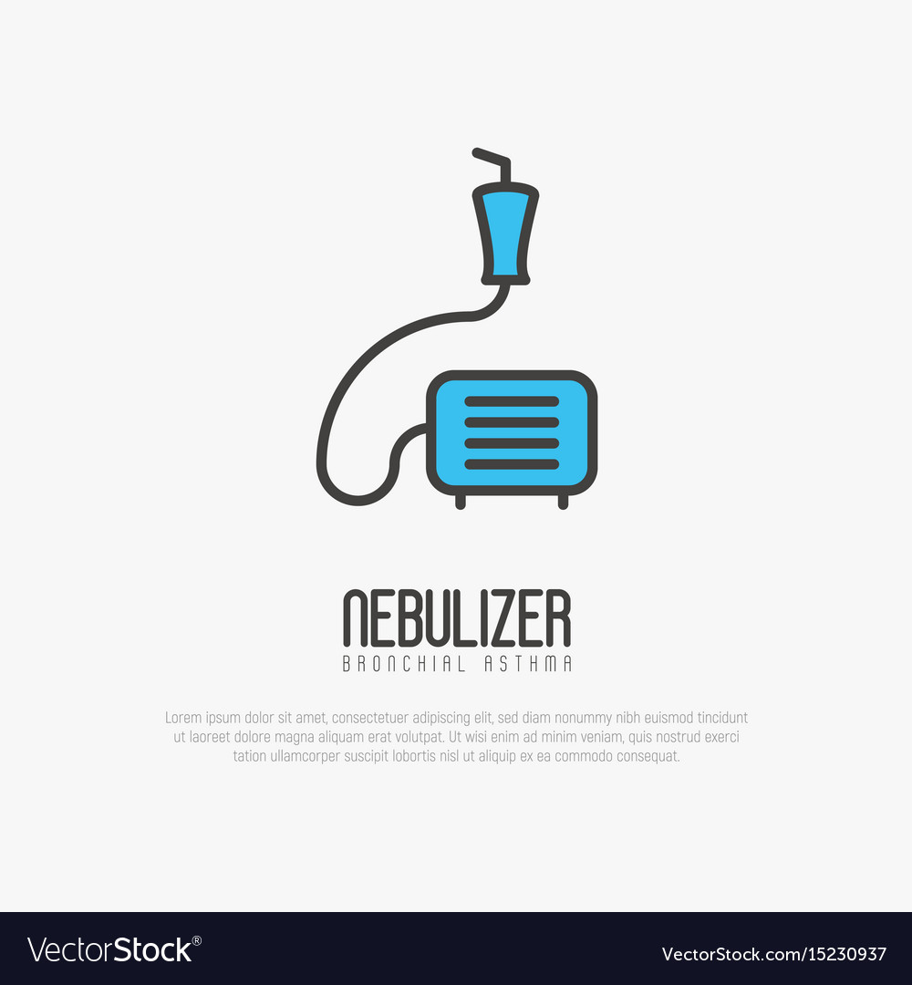 Nebulizer thin line icon from asthma
