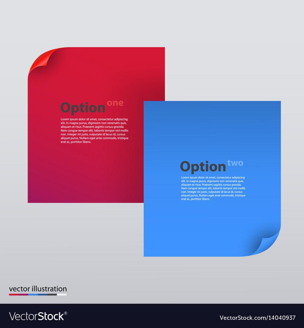 Paper element vector image