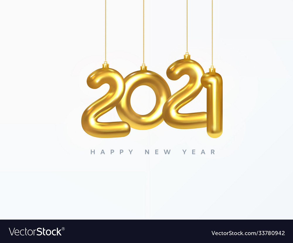 2021 New Year Card Design Christmas Royalty Free Vector