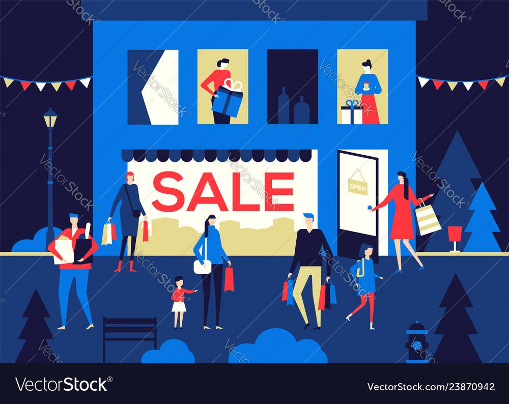Big sale - flat design style colorful