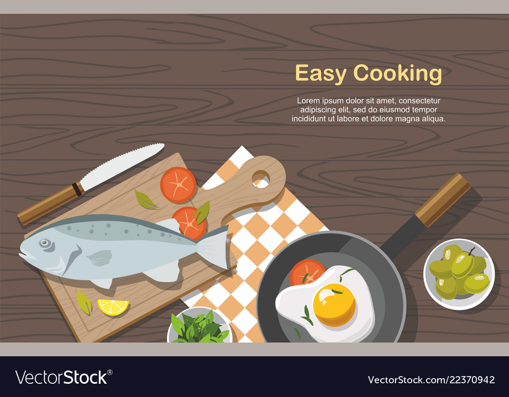 Cooking consept food on table top view