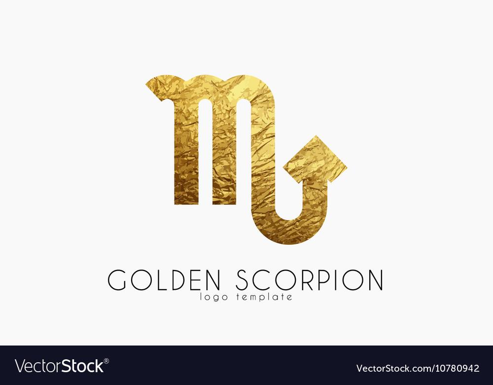 Golden scorpion Golden zodiac sign Scorpion
