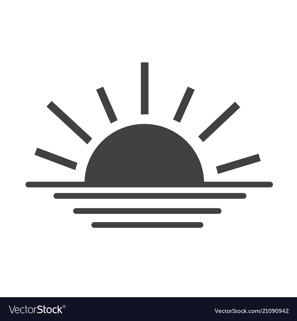 sunrise sunset line icon royalty free vector image vectorstock