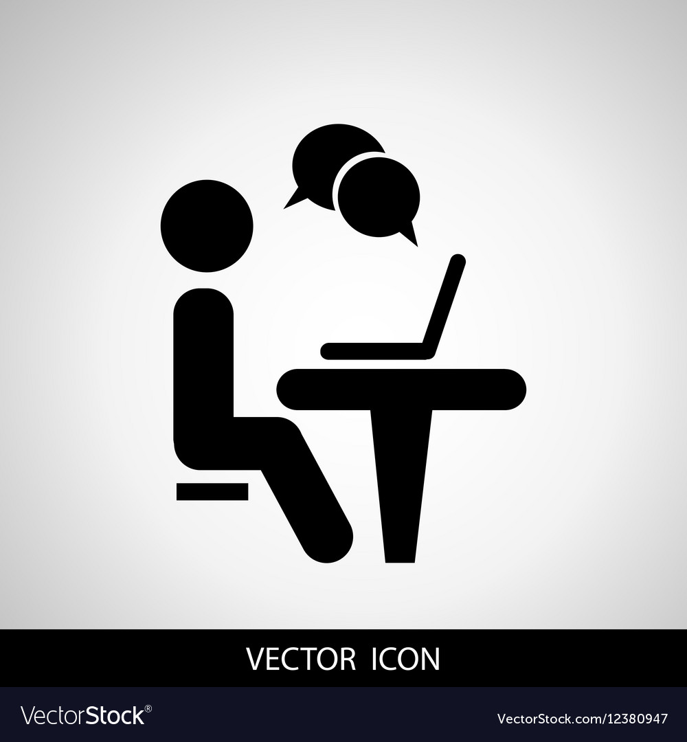 Businessman working on computer Web icons for
