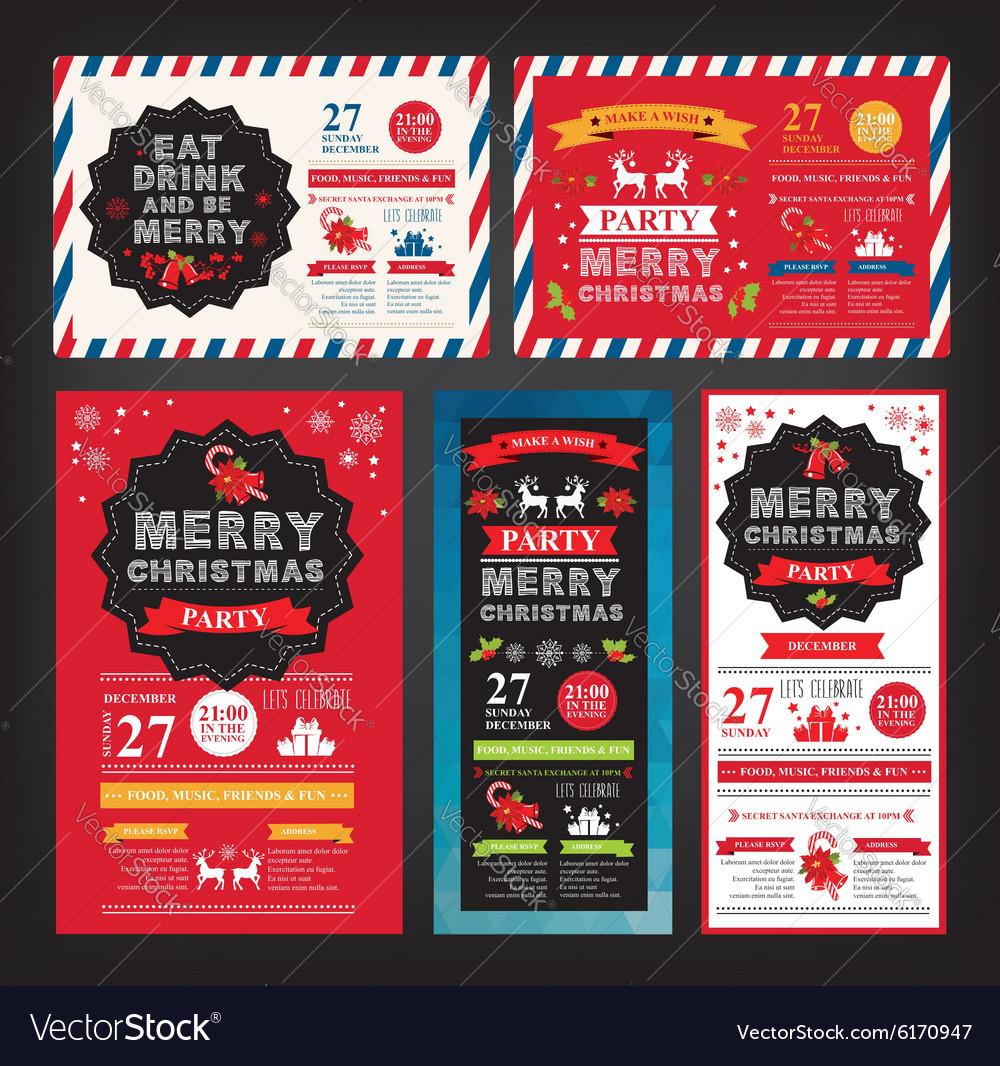 Christmas party invitation Holiday card