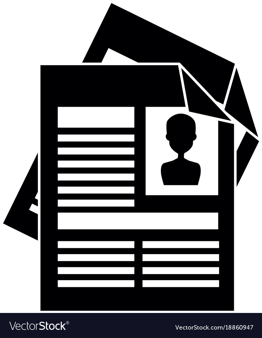 Curriculum Vitae Isolated Icon Royalty Free Vector Image