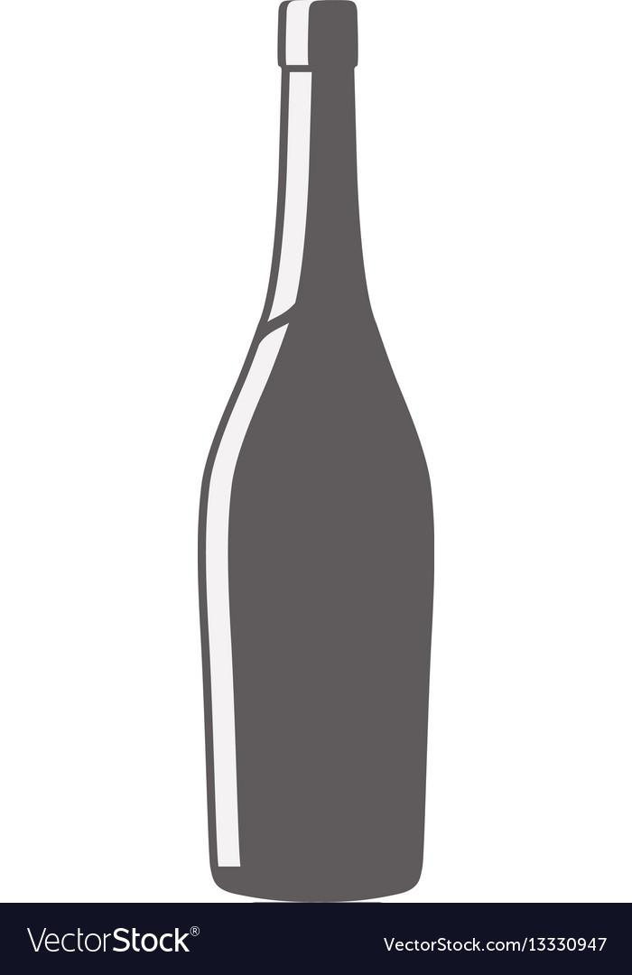 Glass bottle wine design pictogram