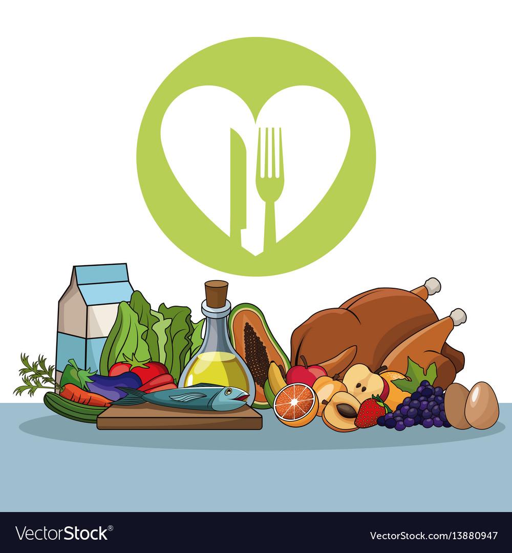Healthy food diet vitamins image