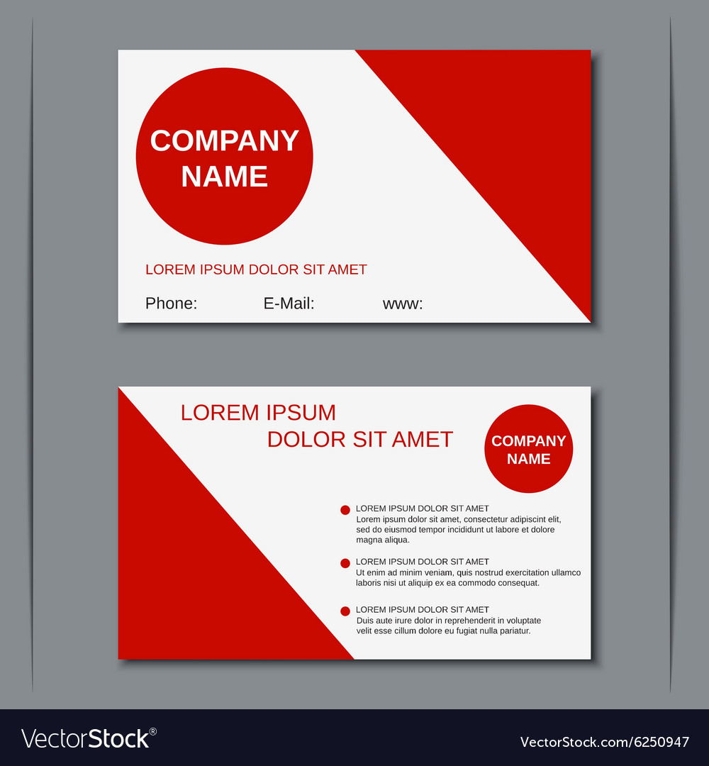 Modern business visiting card Royalty Free Vector Image