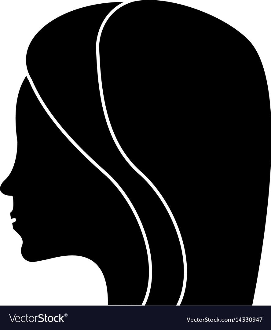 Women day profile girl icon shadow
