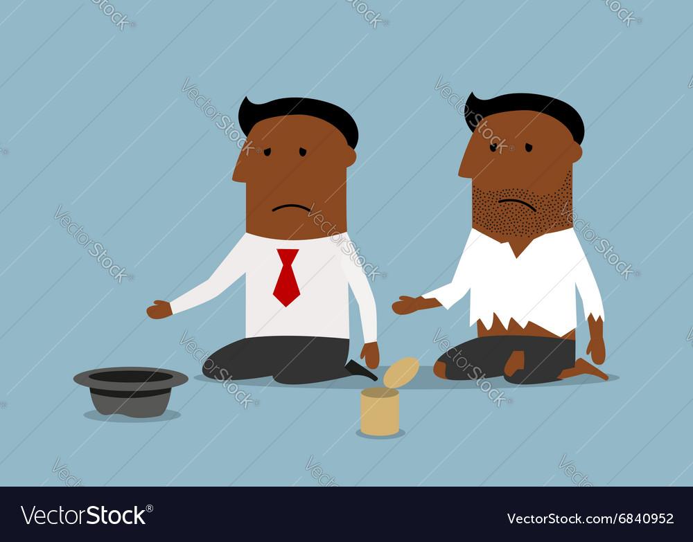 Bankrupt black businessman is begging for money