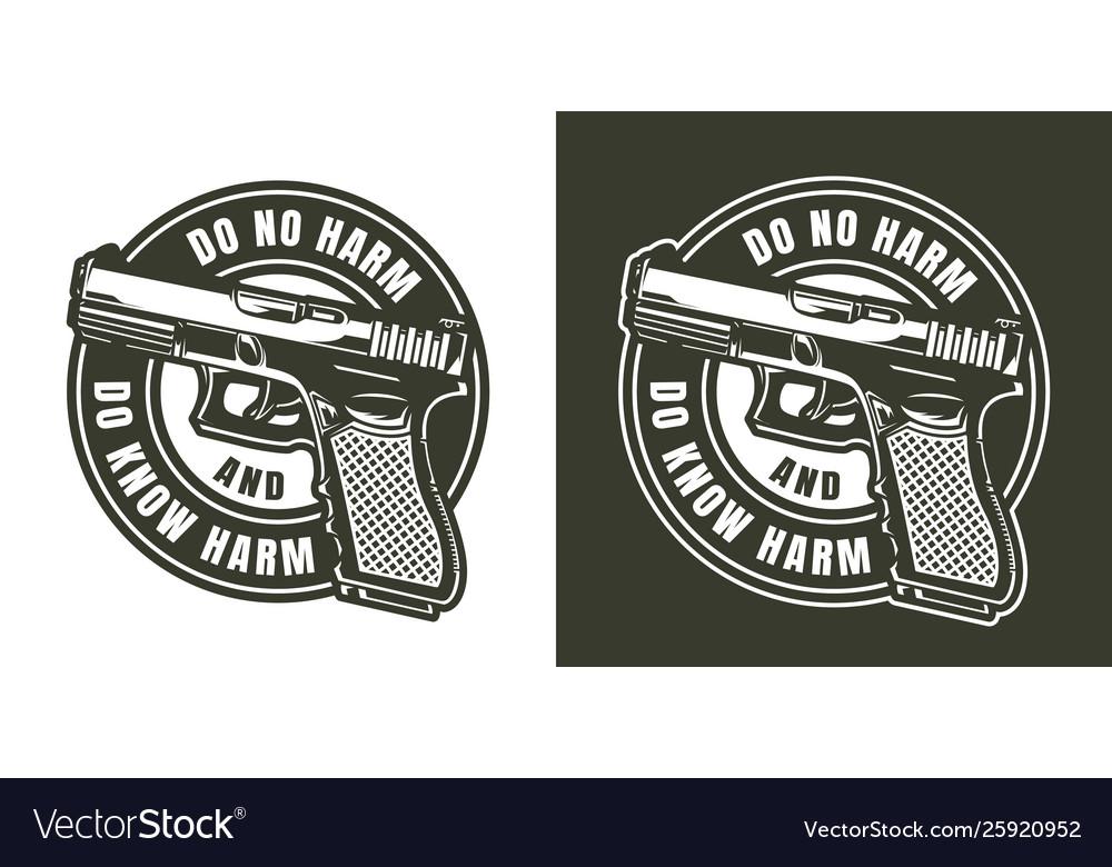 Monochrome military label