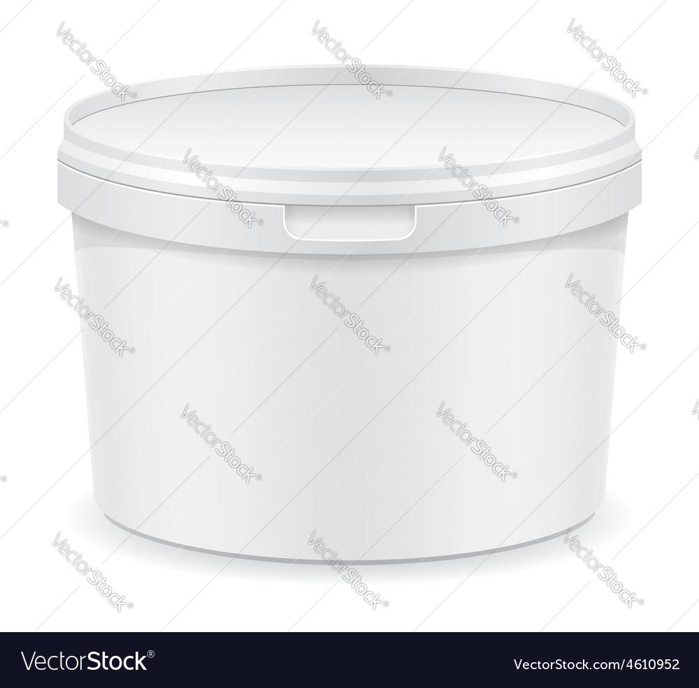 Plastic container for ice cream or dessert 01