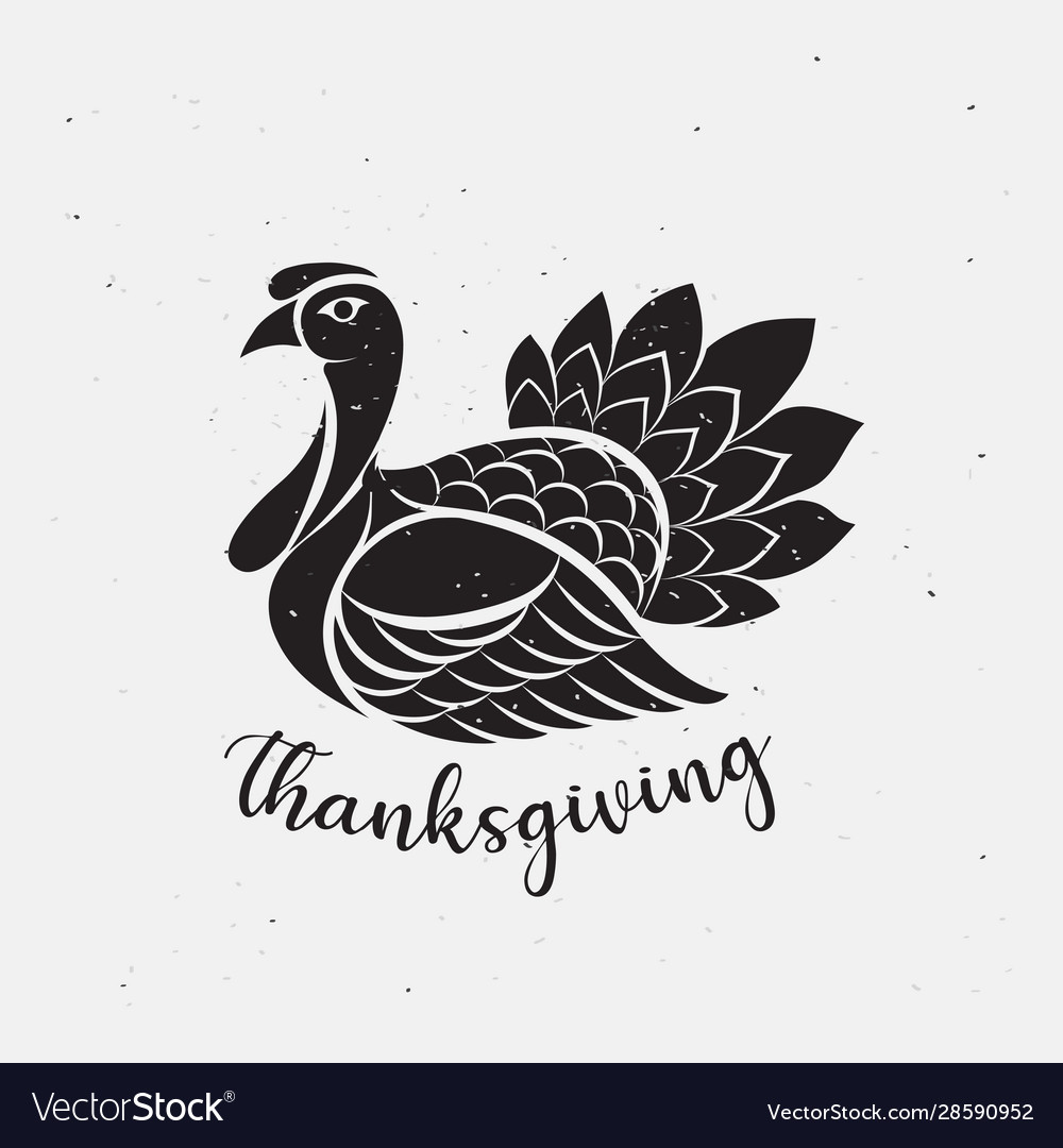 Thanksgiving day icon logo