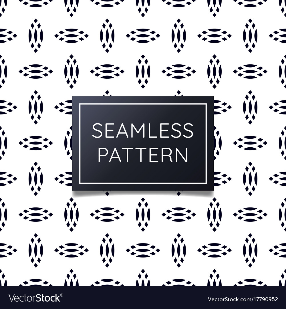 Unique oval seamless pattern with geometric vector image