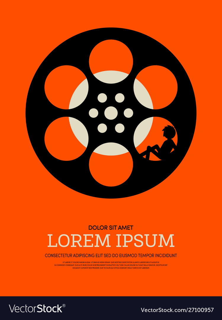 Abstract movie and film modern retro vintage