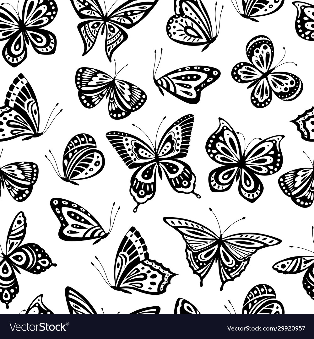 Butterflies pattern romantic flying butterfly