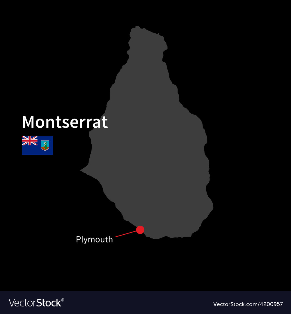Detailed map of Montserrat and capital city on