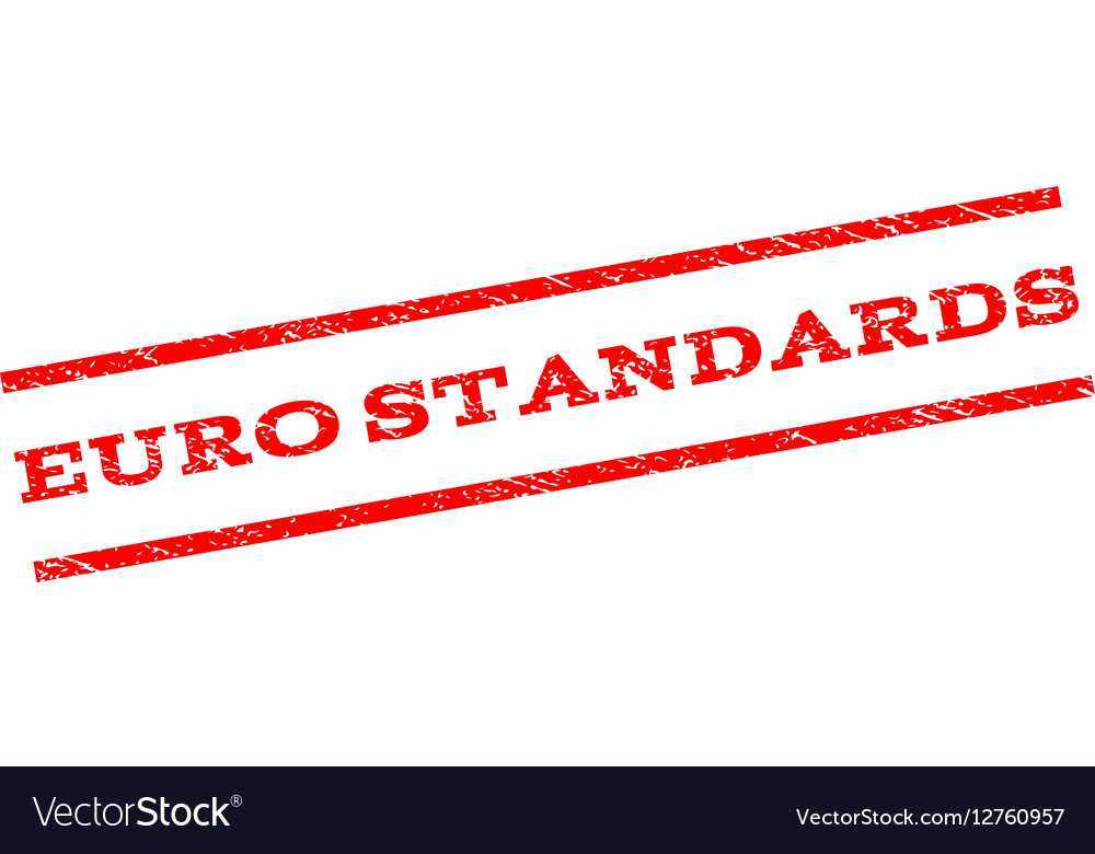 Euro Standards Watermark Stamp vector image