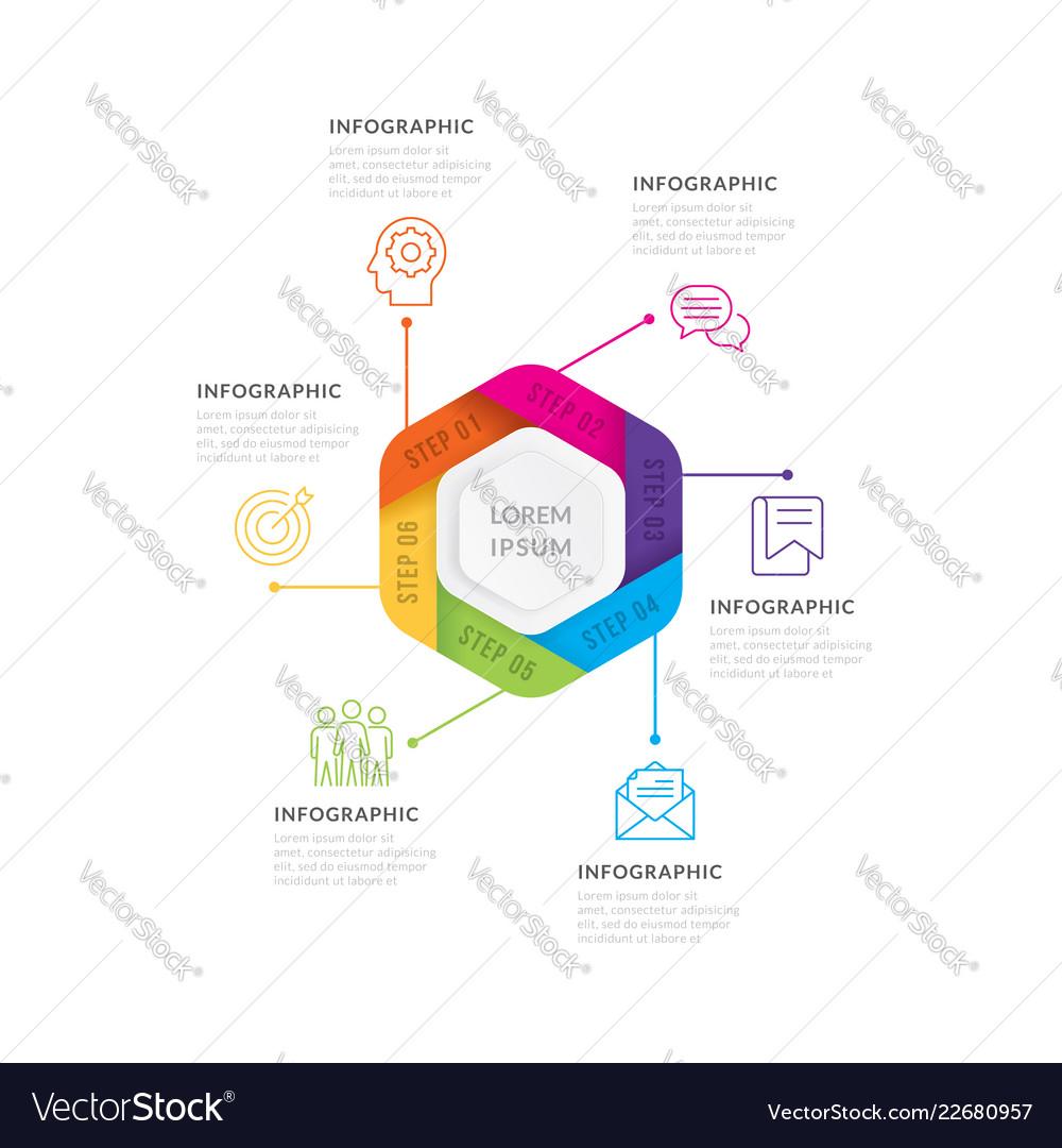 Infographics six options