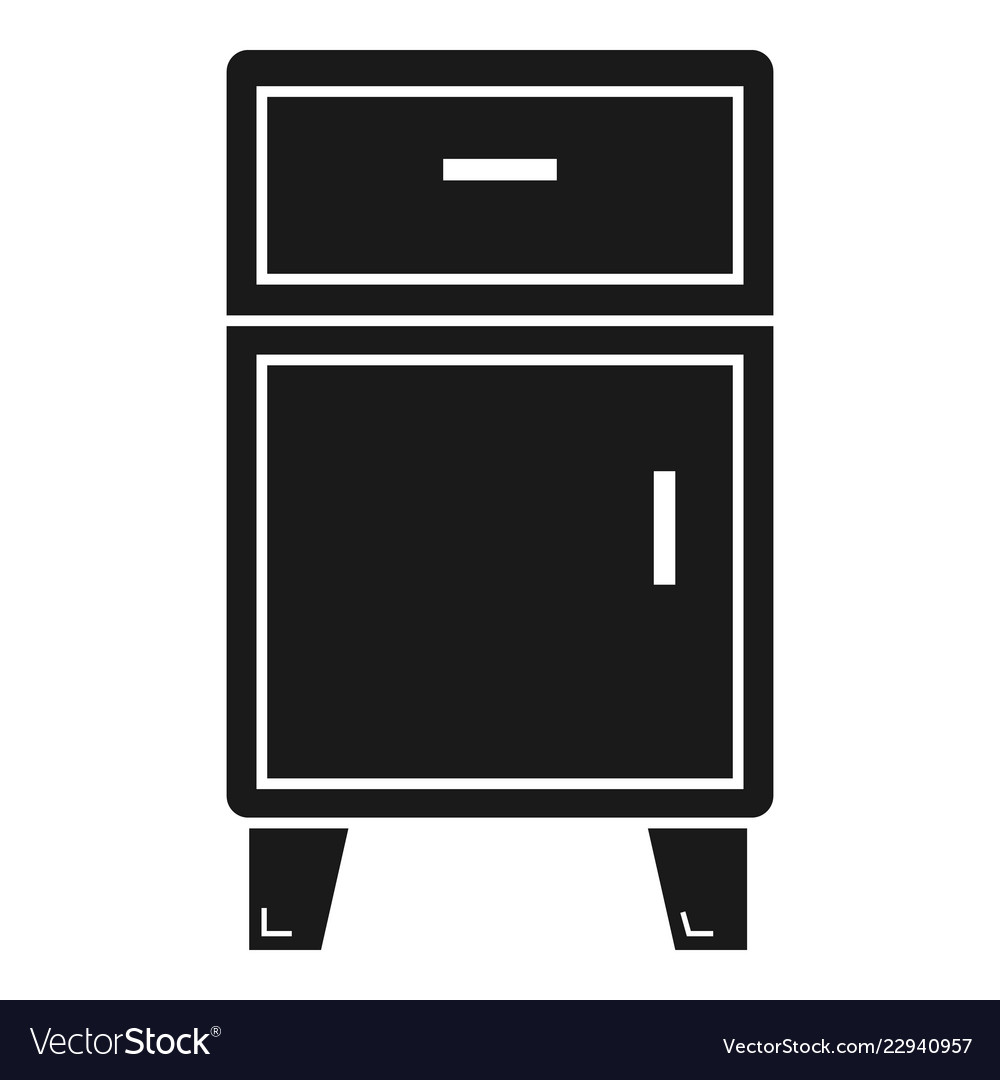 Modern Nightstand Icon Simple Style