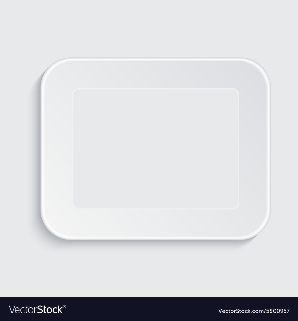 Modern white plastic tray vector image