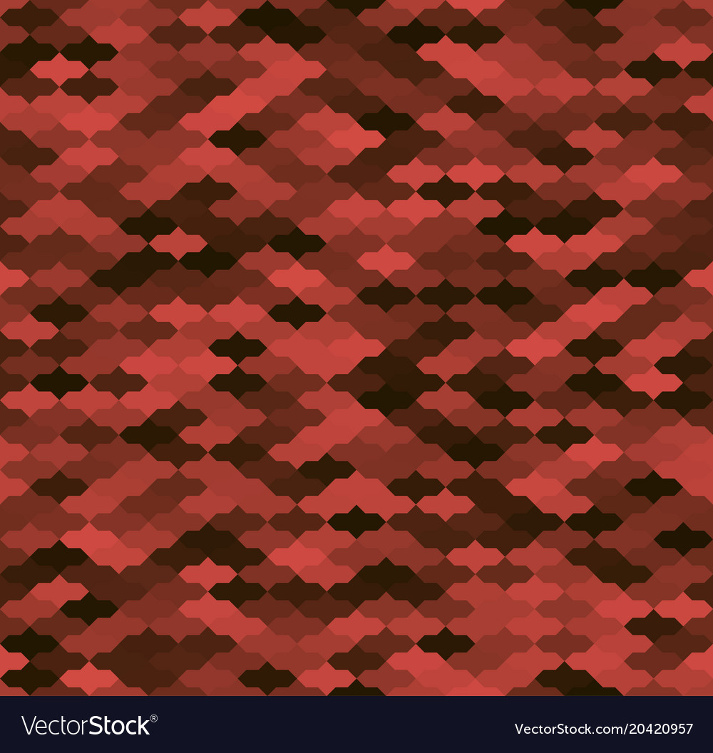 Red and black geometric cornered seamless pattern