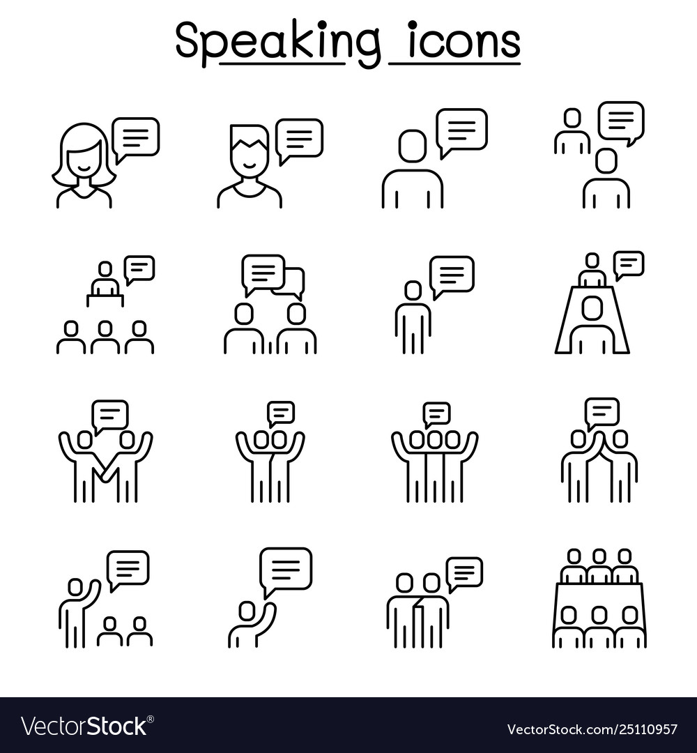 Talk speech discussion dialog speaking chat