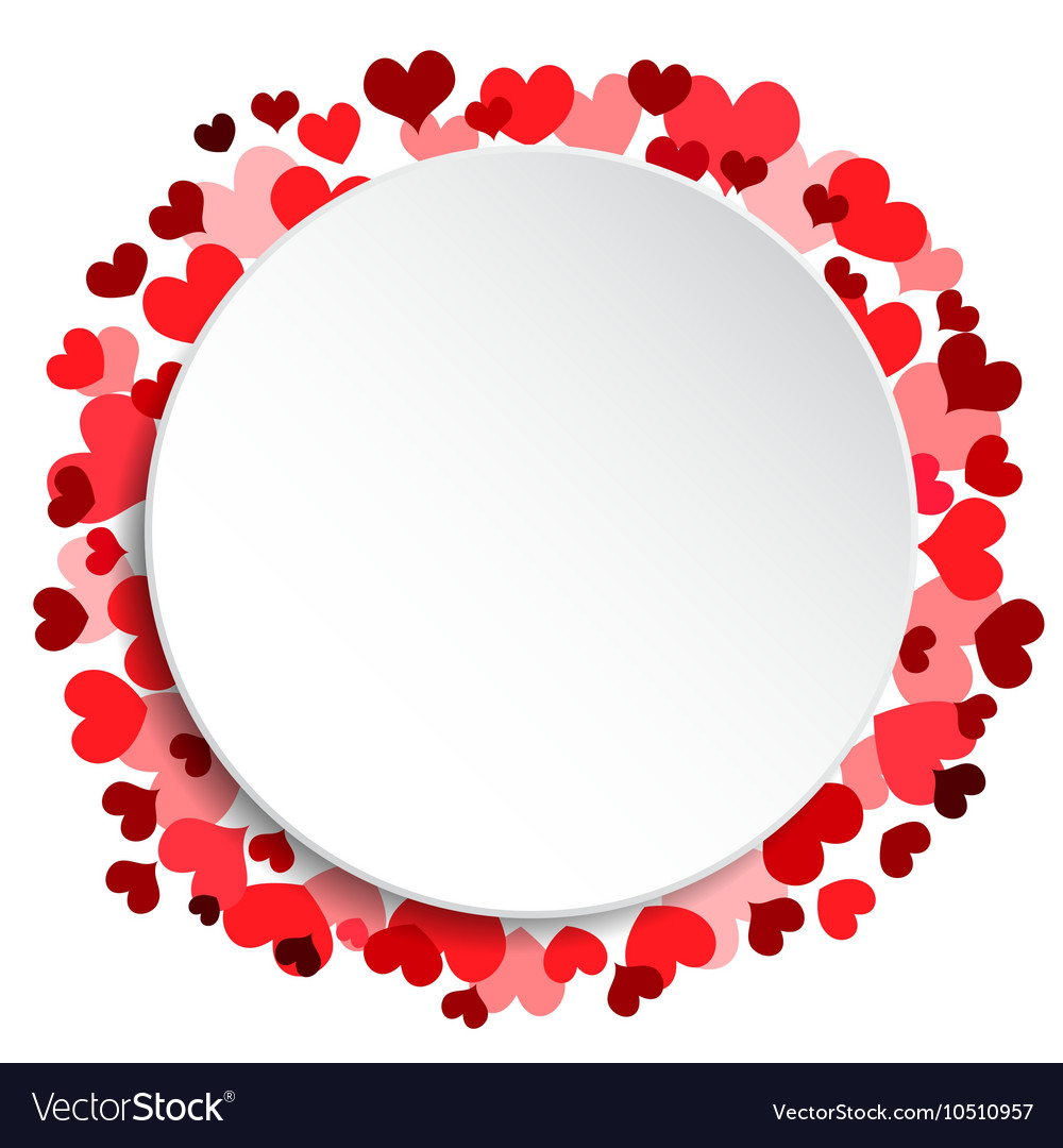 White Circle Frame I Love You Valentines Day Vector Image