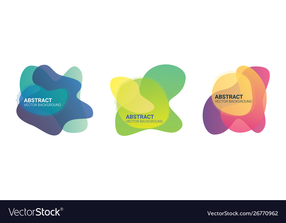 Abstract blur fluid organic color gradient shapes