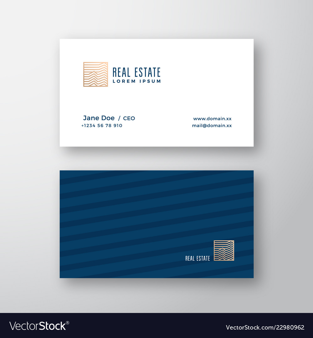 Abstract elegant real estate logo and