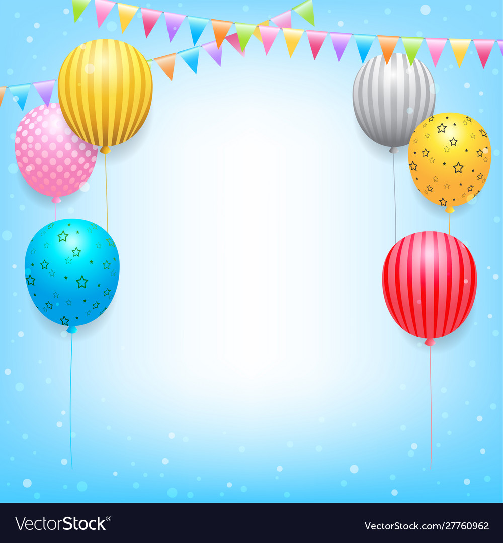 Birthday banner card frame template with colorful