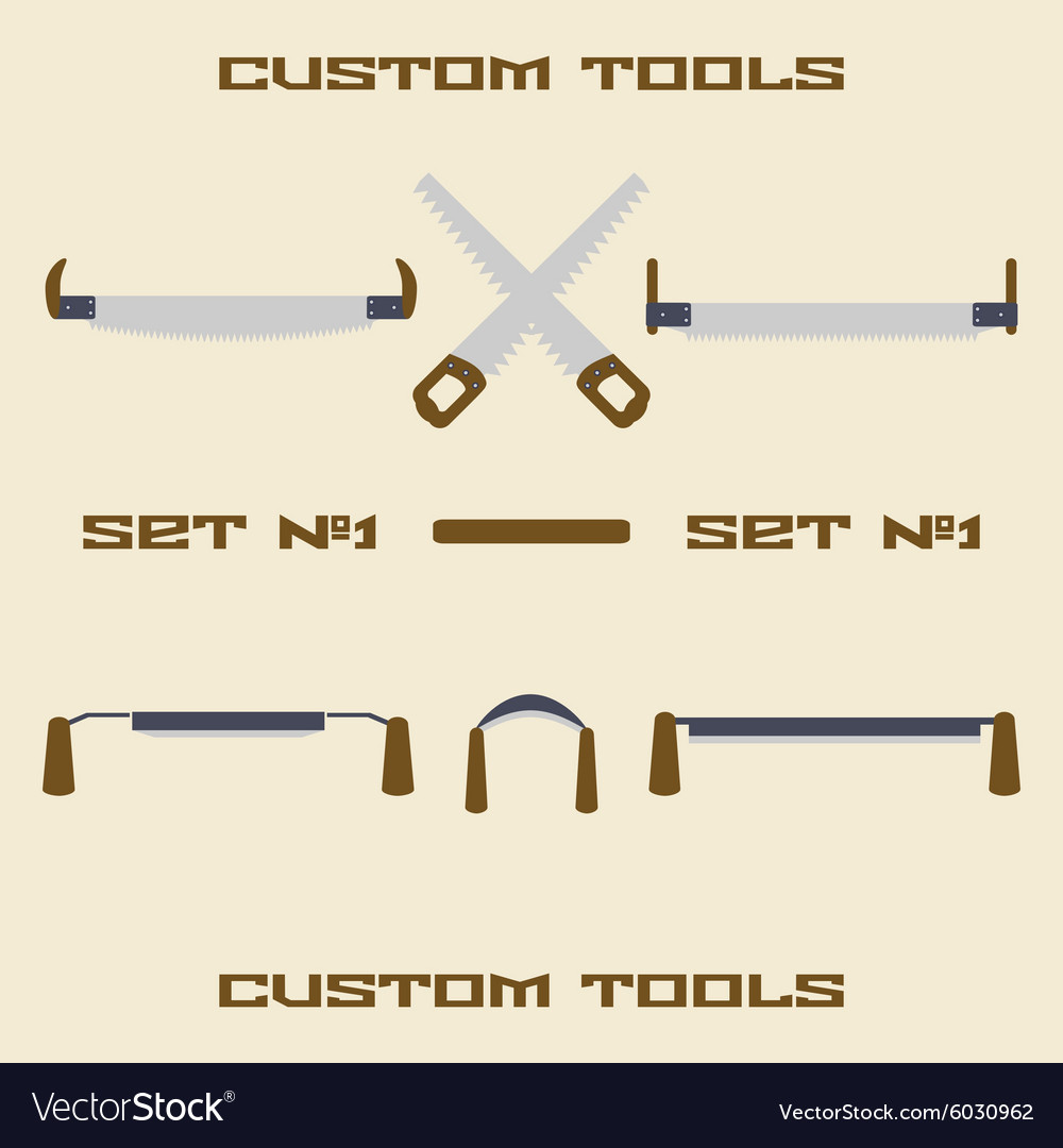 Different carpentry tool silhouette icon set