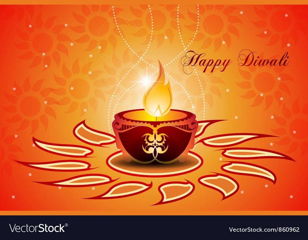 Diwali greeting card royalty free vector image diwali greeting card vector image m4hsunfo Choice Image