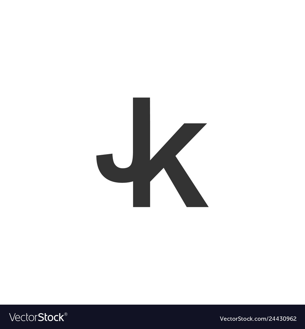 Initial jk logo designs inspirations vector