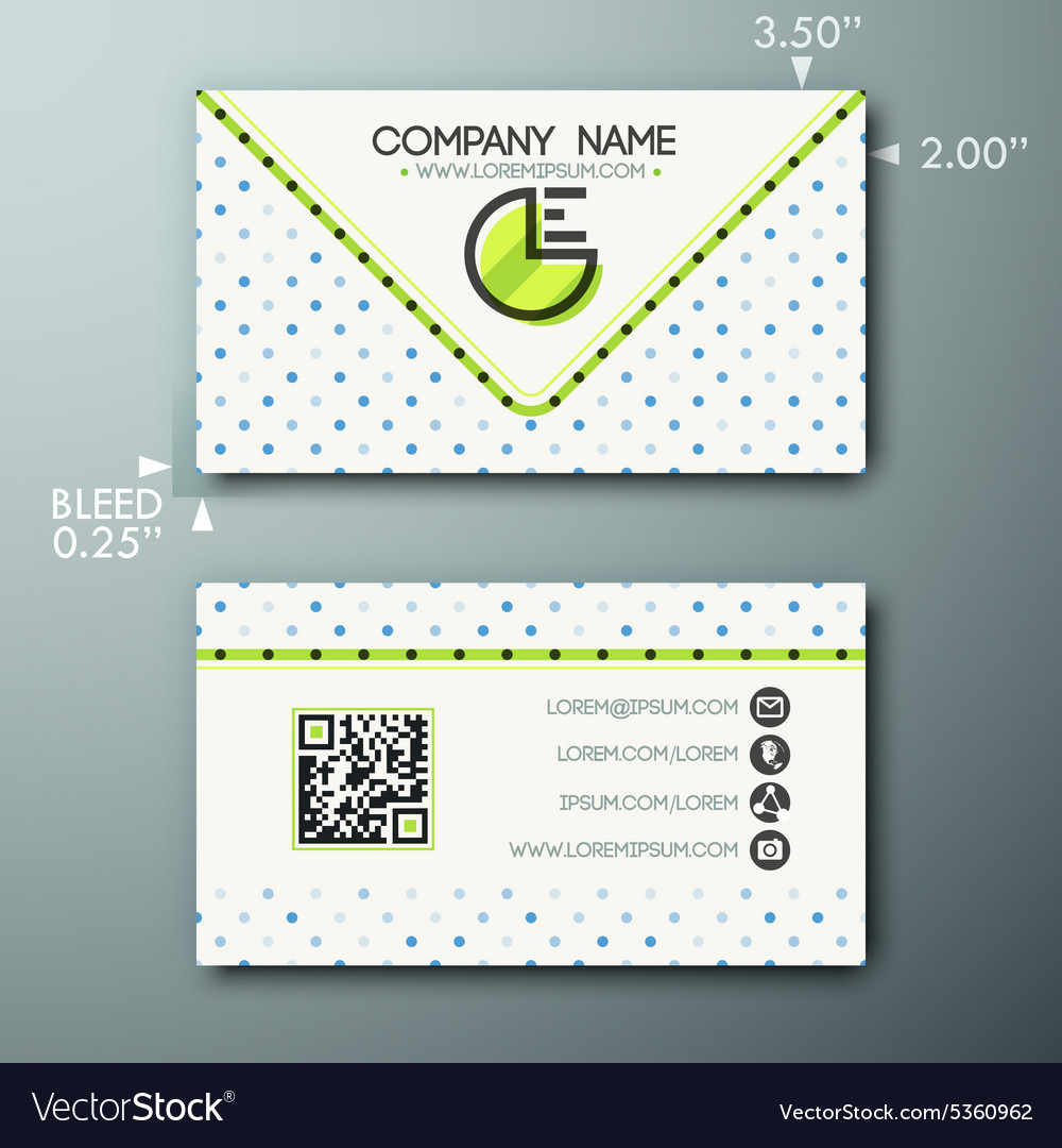 Modern simple vintage business card template with vector image flashek Choice Image