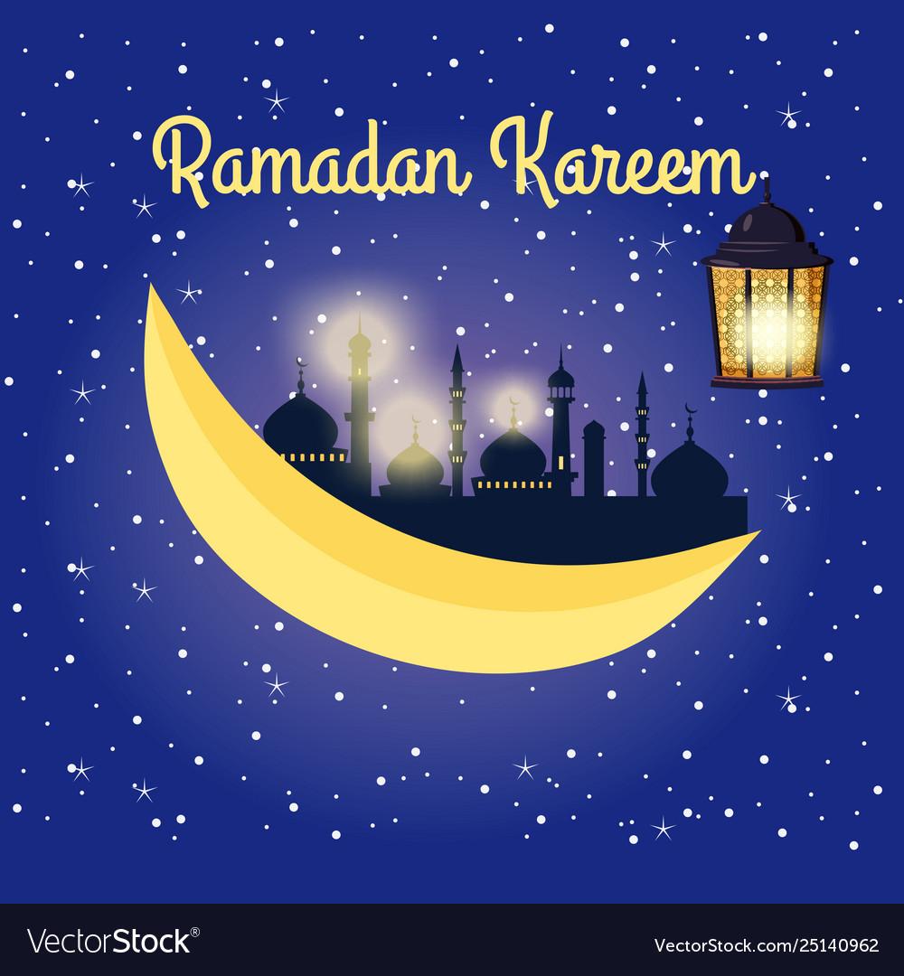 Ramadan kareem background with