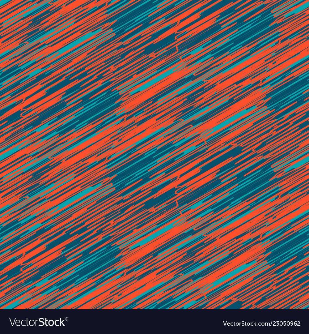 Scribble strokes blue and red seamless pattern