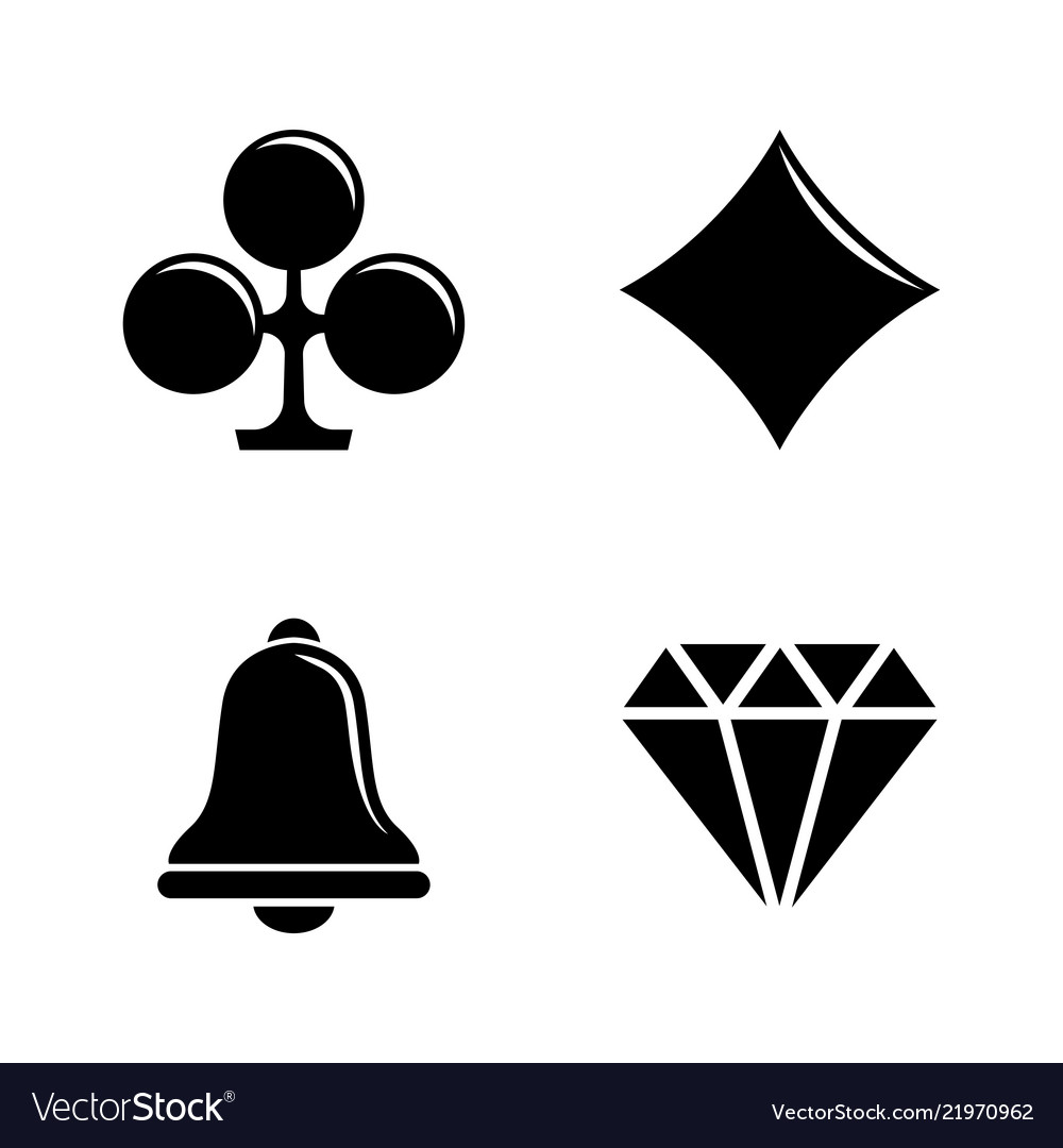 Slot machine casino simple related icons