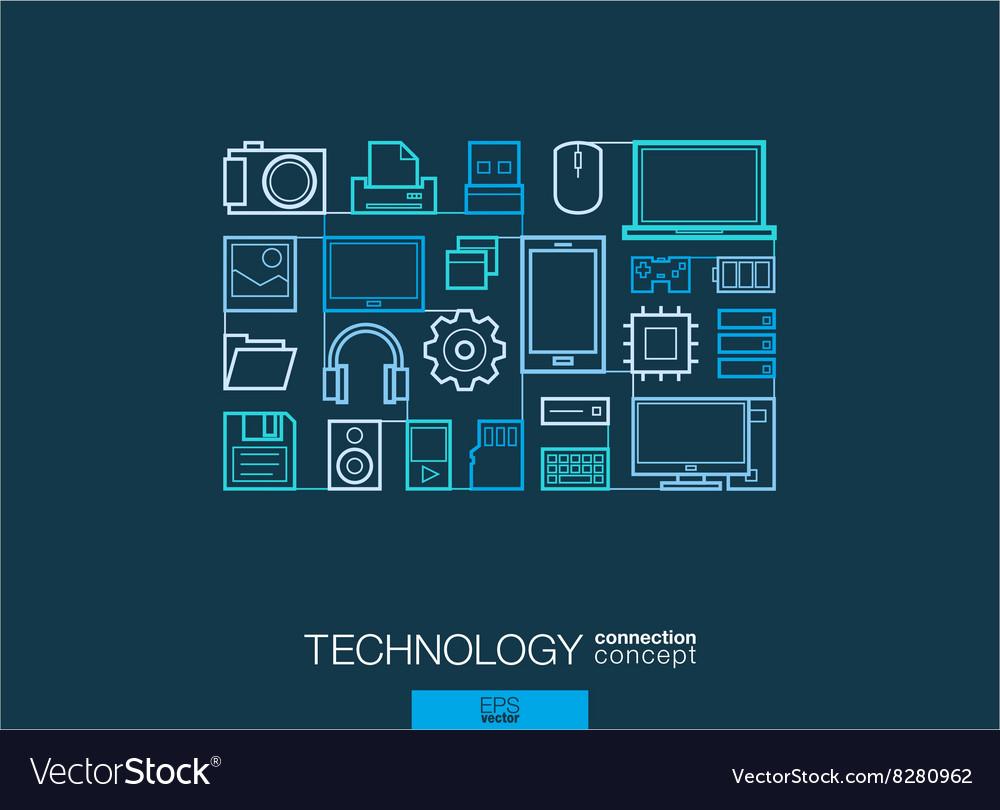 Technology integrated thin line symbols Modern