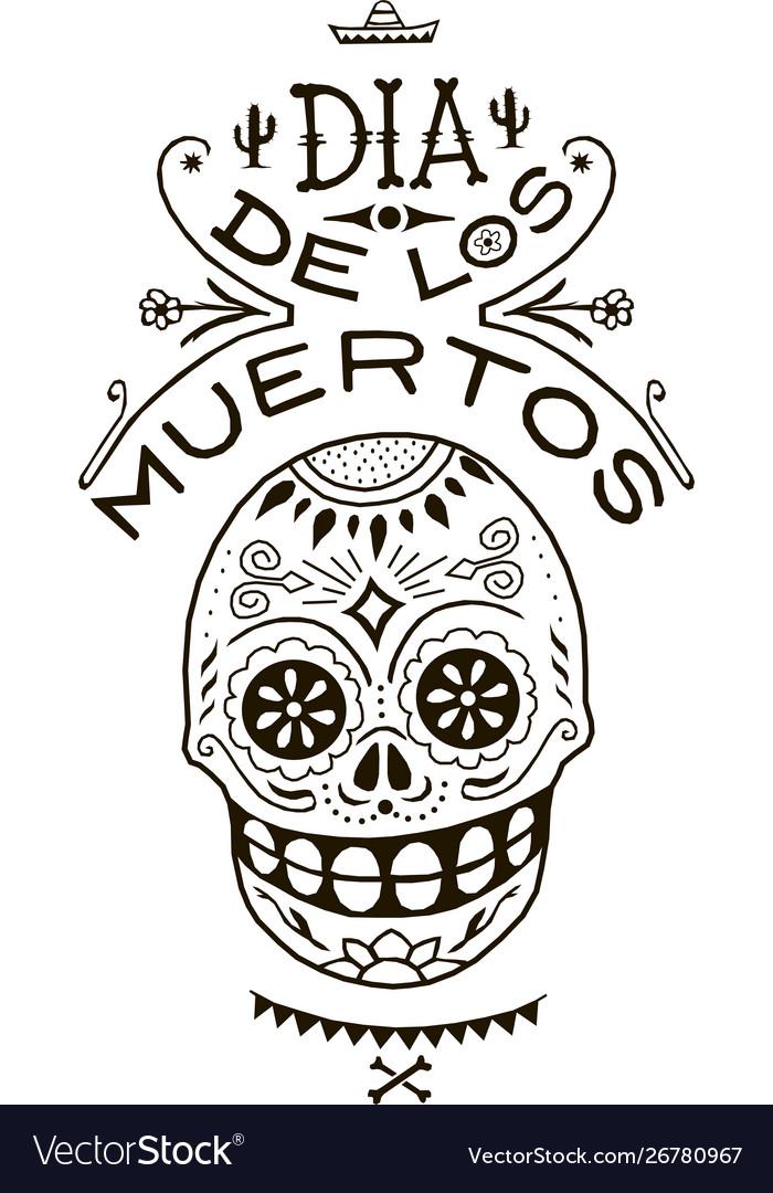 Death day mexico skull