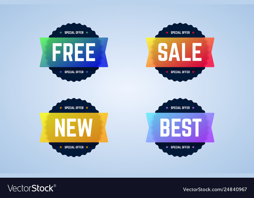 Free sale new and best round badges banners